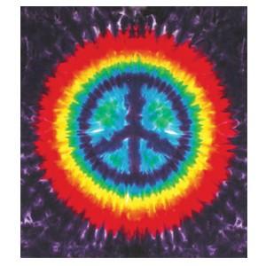 Tye Dye Peace Tapestry