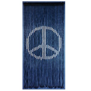 Peace Sign Wood Beaded Curtain